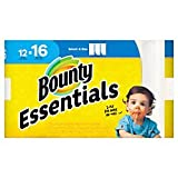 Bounty Essentials 2-Ply Paper Towels, Select-A-Size, 11in. x 5 7/8in, White, 83 Sheets per Roll, Carton of 12 Rolls