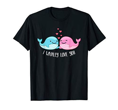 Whale Shirt - I Whaley Love You - Valentine Shirt ()