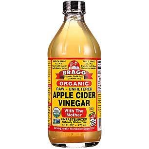 Bragg Organic Unfiltered Apple Cider Vinegar, Raw, 16 Ounce - 1 Pack ()