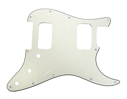 (920D Strat 3 Ply HH Pickguard Fender Stratocaster CNC Cut, Parchment)