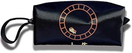 レディース ポータブル 小物入れ 化粧ポーチ 収納ポーチ ハムスター人生 ペット 実験用動物 収納袋 ガジェットポーチ コンパクト 便利グッズ インナーバッグ 軽量 小さめ メイクポーチ トイレタリーバッグ おしゃれ 便利 旅行 出張