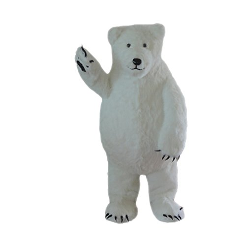 White Polar Bear Mascot Costume Cartoon Character Adult Sz Real Picture Langteng
