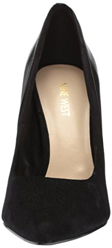 Nine West Women's Taymra Suede Pump, Light Natural/Black Black/Black Suede