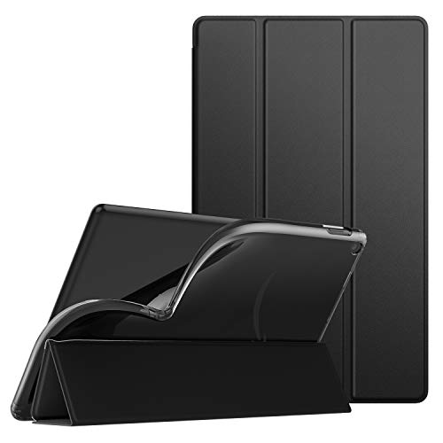 Dadanism All-New Amazon Fire HD 10 Tablet Case(9th Generation - 2019 Release) / (7th Generation - 2017 Release), [Flexible TPU Translucent Back Shell] for Fire HD 10.1 Inch Cover - Black