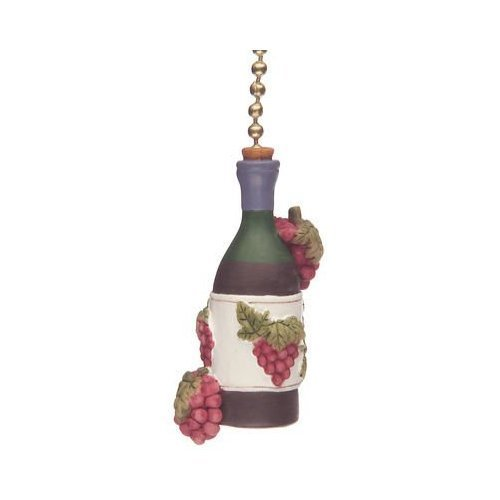 Clementine Designs Wine Bottle Grapes Tuscany Kitchen Fan Light Pull (Wine Grapes Decorative)