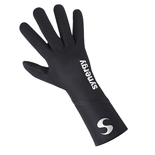 Synergy Neoprene Thermal Swim Gloves (Large, Sports - Black)