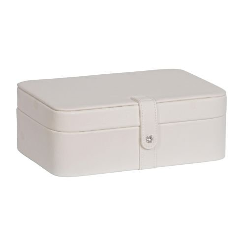 Lila Forty Eight Section Jewelry Box in Ivory - Mele Faux Leather Crystal