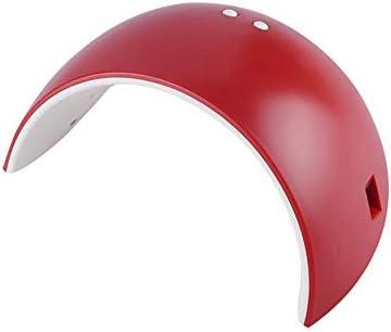 多機能小型ポータブル光線療法ネイルマシンインテリジェント誘導ライトドライヤーネイル光で2タイマー設定 - LED ネイルライト 過熱保護 (Color : Red, Size : European regulations)