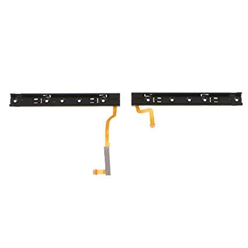 Sliding Cable Flex - SM SunniMix Alloy L R Slide Slider Sliding Rail w/ Flex Cable Compatible with Nintendo Switch NS Joy-Con
