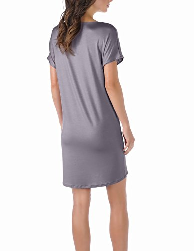 Gown Mey Grey Night Colour 11933 Loungewear Nightdress Solid Selina 420 Women's Shale zBXOWwgzq