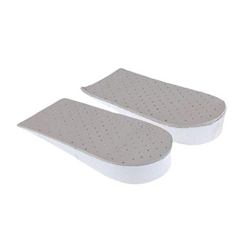 MagiDeal Plantilla Media de Calzado Inserción de Zapatos Invisibles Aumento de Altura Almohadilla Cómodo de Deportes de Unisexo