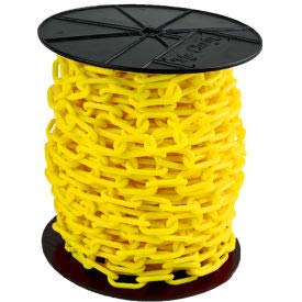 SIM Imports Plastic Chain - 1-1/2'' Links - On A Reel - Yellow - 200 Feet - Trade Size 6