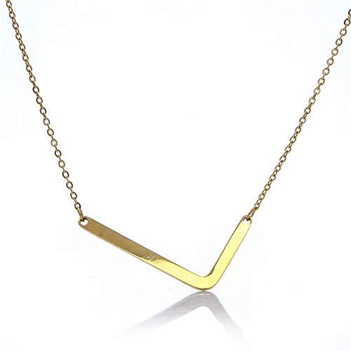 Fairy Whisper Stainless Steel Gold Big Letter Script Name Initial Alphabet A-Z Pendant ()