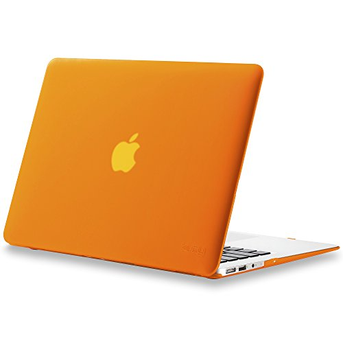 Kuzy - AIR 13-inch ORANGE Rubberized Hard Case for MacBook Air 13.3 (A1466 & A1369) (NEWEST VERSION) Shell Cover - Orange