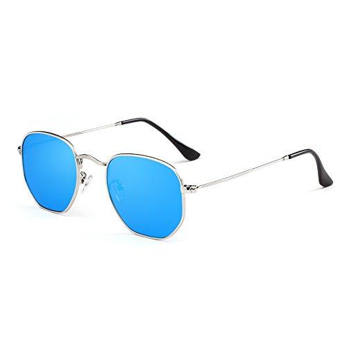AIMADE Unisex Hexagonal Polarized Sunglasses UV400 - E Commerce Sunglasses