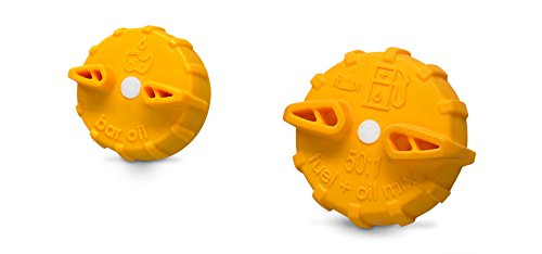 35cc Gas Chainsaw - Ryobi AC00170 Replacement Chainsaw Gas and Oil Caps for Ryobi and Homelite Gas Chainsaws (2-Pack) Yellow