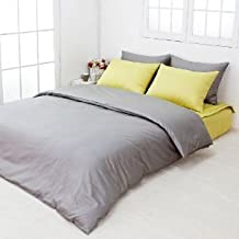 Egyptian Cotton Bedding Super Soft Duvet 400 Thread Count Grey Solid Zipper Closure 1-Piece Duvet Cover Cal King Size