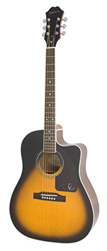(Epiphone AJ-220SCE Acoustic Electric Guitar, Vintage Sunburst)