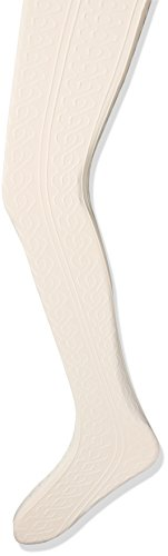 on Tights, Ivory-Ringlet Cable, Small (Girls Ivory Tights)