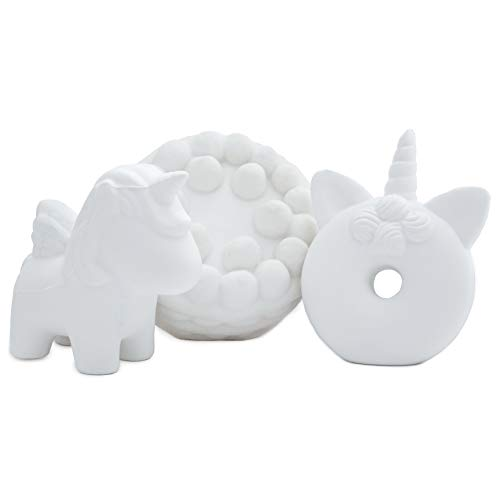 Simperial Squishies, White 3pc Slow Rising squishies for do it Yourself, DIY, Sweet Scented White Stress Reliever, Oddly Satisfying, Soft Anti-Anxiety Toys Children Adults