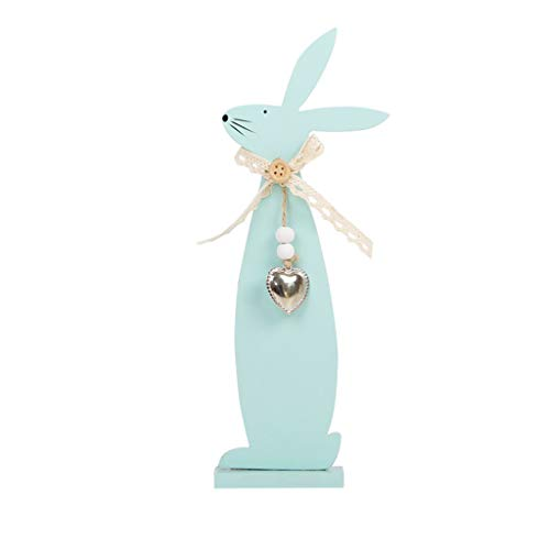 - HHmei Easter Day Bunny Exquisite Premium Wooden Pendant Hanging Decoration Wooden Bunny Decoration Bunny Blue Bow Tie Rabbit, Green Bow Tie Rabbit, Pink Bow Tie Rabbit (Green)