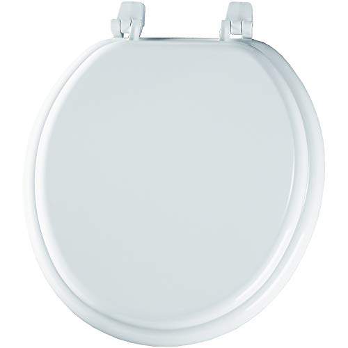 BEMIS 400TTA 000 Economy Toilet Seat, Durable Enameled Wood, ROUND, White