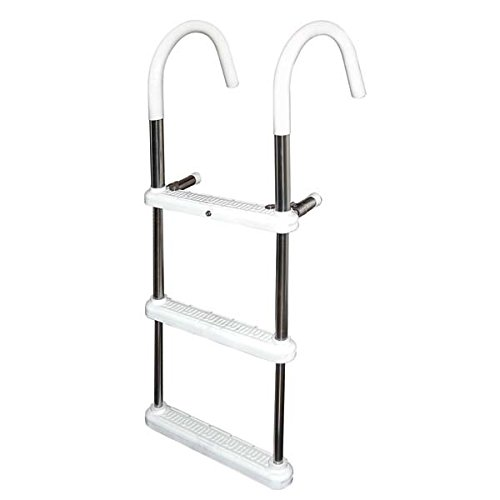 4 Step Gunwale 11'' Hook Ladder, Stainless 316 - Jif Marine by JIF Marine, LLC