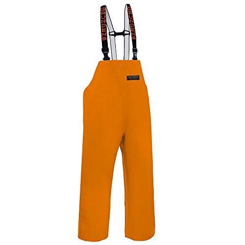 Grundens H16 Unisex Herkules 16 Bib Pants, Orange - (Xs Reversible Unisex Pants)