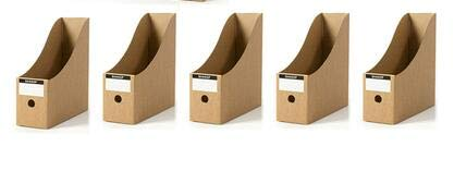 VU ANH TUAN Store Desktop File Folders Package Mail Receive Special File Storage Box Bookshelf Folder Box Office Kraft Paper Basket ()