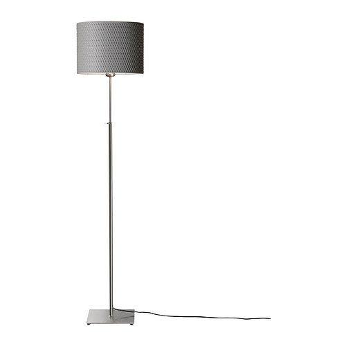 2 X Ikea 001.908.30 Alang Floor Lamp, Nickel Plated Gray