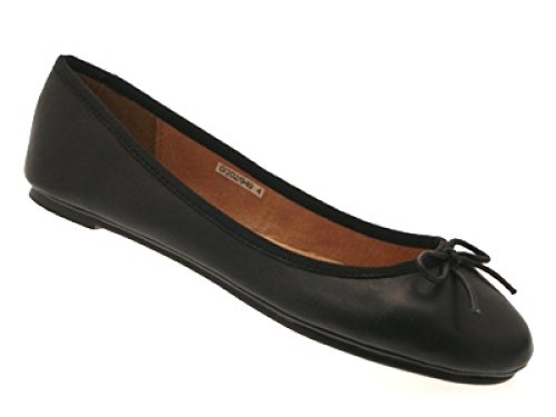 BALLET 8 3 MATT GIRLS black SHOES LEATHER WOMENS SCHOOL FLAT PUMPS SIZE LADIES PATENT matt NEW c4aOYqR7c