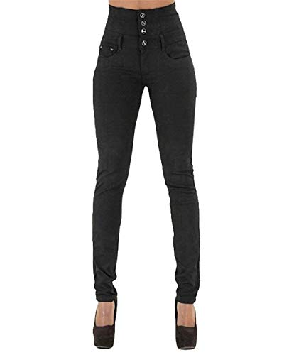 Vita Alta Fashion Monopetto Da Slim Casual Tasche Saoye Con Schwarz Donna A Giovane Elasticizzati Denim Pantaloni In Skinny YwdqR0
