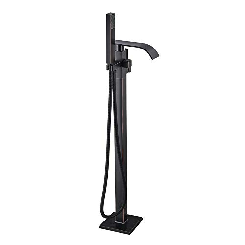 Rozin Floor Mounted Standing Tub Faucet Mixer Tap with Handheld Shower Oil Rubbed Bronze