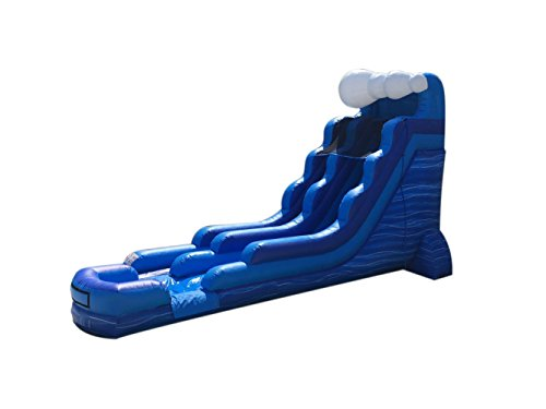 18' Super Strong Kit (TentandTable 18-Foot Tidal Wave Marble Inflatable Water Slide, Wet or Dry, Commercial Grade, 1.5 HP Blower and Stakes Included)