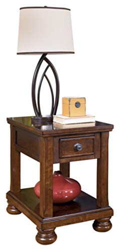 Ashley Furniture Signature Design - Porter End Table - Rustic Style Chair Side Accent Table - Rectangular - ()