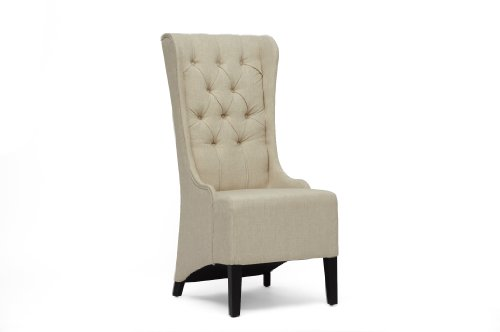 Baxton Studio Vincent Beige Linen Modern Accent Chair (Club Matching Chairs)