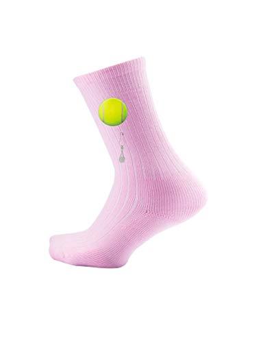 (Thorlos Junior's Express Yourself Tennis Crew Socks, pink, Small)