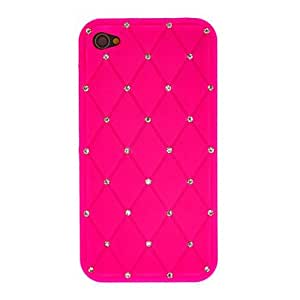 Shiny Silicone Soft Case with Diamond for iPhone 4/4S (Assorted Colors) --- COLOR:Green