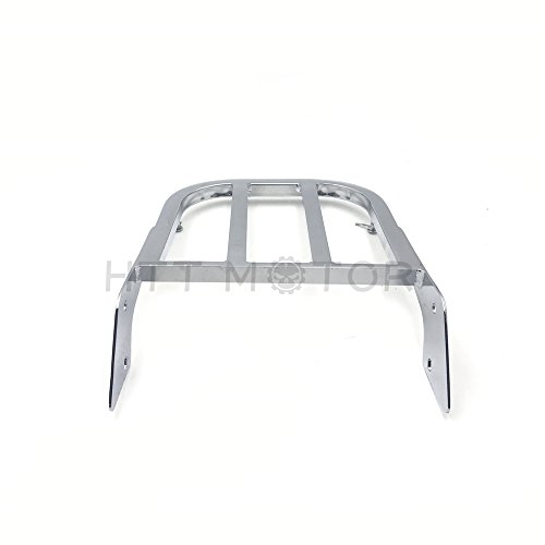 (SMT MOTO- Chrome Luggage Rack For 2000-2009 Yamaha V-Star 1100)