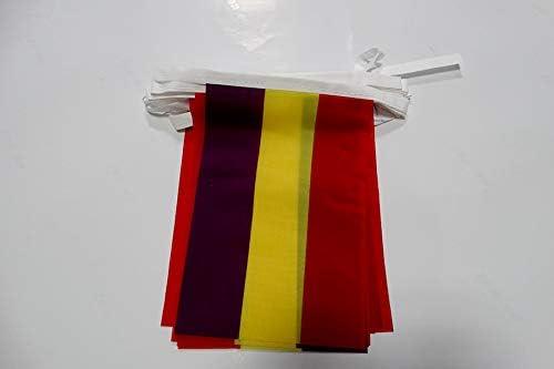 AZ FLAG Guirnalda 6 Metros 20 Banderas ESPAÑA Republicana SIN Escudo 21x15cm - Bandera DE LA Republica ESPAÑOLA 15 x 21 cm - BANDERINES: Amazon.es: Jardín