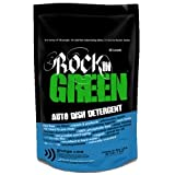 Rockin' Green Auto Dish Dishwasher Detergent - Natural Dishwasher Soap With Plant-Derived Enzymes and Scrubbing Agents - No Residue, No Water Spots AND No Dyes, Chlorine, or Toxic Junk (16 oz.)