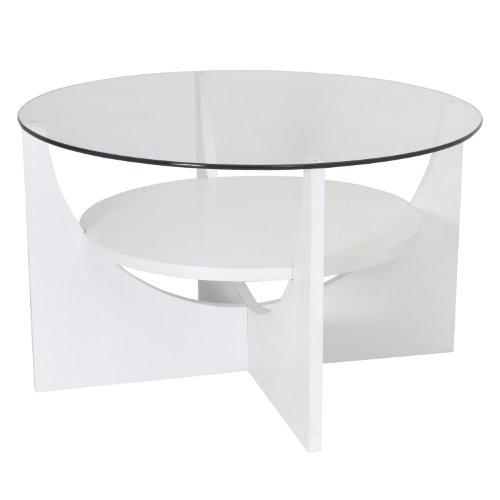 WOYBR TB-CTU W MDF, Glass U Shaped Coffee Table