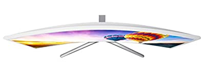 "New Samsung 32"" Full HD Curved Screen LED TFT LCD Monitor Glossy White MagicBright FreeSync Technology Eco Saving Plus Eye Saver DisplayPort HDMI (LC32F397FWNXZA)"