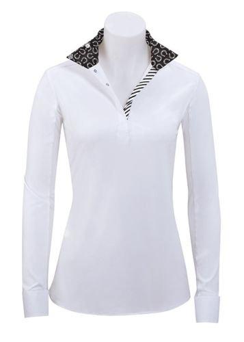 RJ Classics Rebecca Ladies Long Sleeve English Show Shirt With Horseshoe Trim (Small)