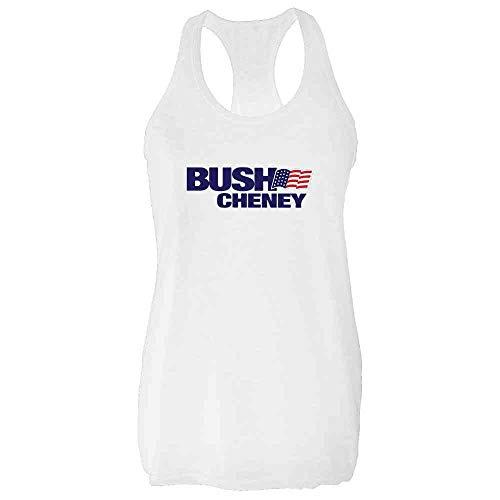 Bush Cheney Sticker - Pop Threads George W Bush Dick Cheney President Campaign Retro White M Womens Tank Top