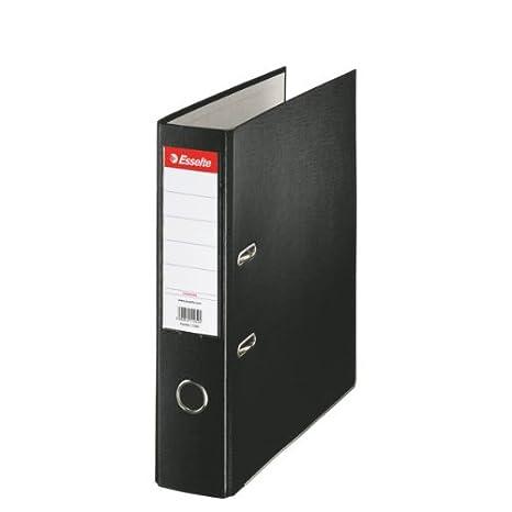 Leitz 11257 - Archivador plástico ecológico con anillas A4 color negro: Amazon.es: Oficina y papelería