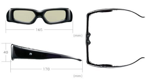 GBSG03-JP: i.Trek Rechargeable Infrared Active Shutter 3D Glasses for Panasonic 3D HDTV