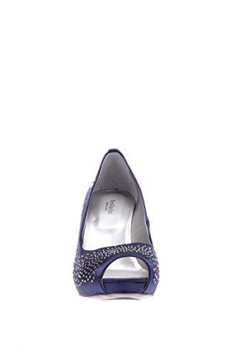 Femme Plateau Jardins Satin 208 Bleu Avec Noir Pointe P615370de Ouvert En nbsp;ouvert OXxqXw5BA