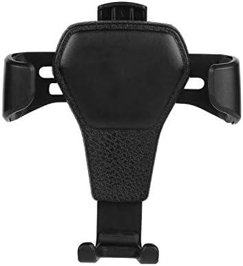 新しい空気出口車の電話ホルダー車の革粒重力携帯電話ブラケット車のブラケット (Color : Black)