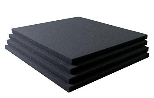 Akustikschaumstoff Breitbandabsorber glatt RG26 - 500mm x 500mm x 20mm- 4er Set - 1m²